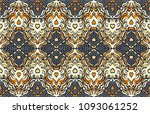 ikat seamless pattern. vector... | Shutterstock .eps vector #1093061252