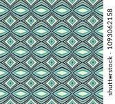 green geometric pattern in...   Shutterstock . vector #1093062158