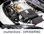 detail of engine of electric car | Shutterstock . vector #1093069082