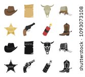 star sheriff  colt  dynamite ...   Shutterstock . vector #1093073108
