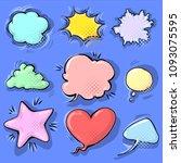 cartoon funny comic empty... | Shutterstock .eps vector #1093075595