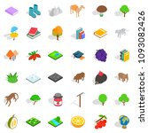fauna icons set. isometric... | Shutterstock . vector #1093082426