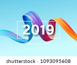 2019 new year of a colorful... | Shutterstock .eps vector #1093095608