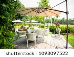 wicker furniture  outdoor... | Shutterstock . vector #1093097522
