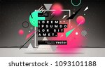 abstract geometric elements... | Shutterstock .eps vector #1093101188