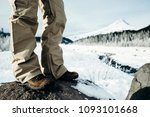 closeup of mans legs with ski... | Shutterstock . vector #1093101668