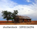 Weathered Old Farmhouse On The...