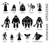 ancient medieval fantasy evil... | Shutterstock .eps vector #1093122302
