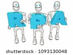 rpa robotic process automation... | Shutterstock . vector #1093130048
