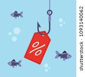 label with percent on fishing... | Shutterstock .eps vector #1093140062