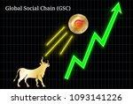 gold bull  throwing up global...   Shutterstock .eps vector #1093141226