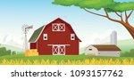 illustration of countryside... | Shutterstock .eps vector #1093157762