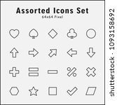 thin line icons set of assorted ...
