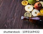 homemade kombucha with fruits.... | Shutterstock . vector #1093169432