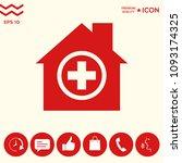 hospital icon symbol | Shutterstock .eps vector #1093174325