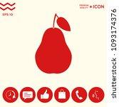 pear icon symbol | Shutterstock .eps vector #1093174376