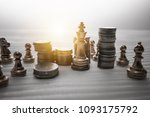 chess board game concept of... | Shutterstock . vector #1093175792