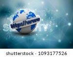 3d rendering https www sign on...   Shutterstock . vector #1093177526
