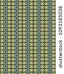 green geometric pattern in...   Shutterstock . vector #1093185038