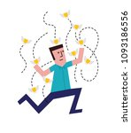 vector illustration of a man... | Shutterstock .eps vector #1093186556