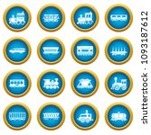 railway carriage icons set....   Shutterstock .eps vector #1093187612
