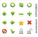 web and internet icon set   Shutterstock .eps vector #109318802