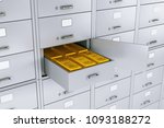 stack of gold bars in opened...   Shutterstock . vector #1093188272