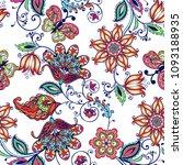 fantastic floral seamless... | Shutterstock .eps vector #1093188935