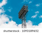 stadium lights turn on at... | Shutterstock . vector #1093189652