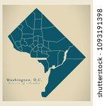 modern city map   washington dc ...   Shutterstock .eps vector #1093191398