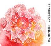 decorative floral mandala. ... | Shutterstock . vector #1093208276