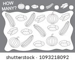 coloring book and math game how ... | Shutterstock .eps vector #1093218092