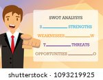 swot analysis table template... | Shutterstock .eps vector #1093219925