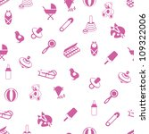 baby icons pattern | Shutterstock .eps vector #109322006