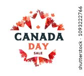 happy canada day poster. 1st... | Shutterstock .eps vector #1093222766