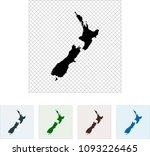 map of new zealand | Shutterstock .eps vector #1093226465