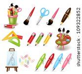 drawing and painting tools | Shutterstock .eps vector #109322852