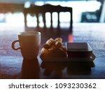 a cup of coffee ready to serve... | Shutterstock . vector #1093230362
