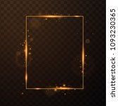 golden frame with lights... | Shutterstock .eps vector #1093230365