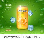 orange soft drink contained in... | Shutterstock .eps vector #1093234472