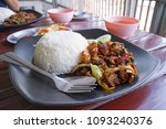 thai delicious spicy food call...   Shutterstock . vector #1093240376