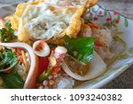 thai food fried sea food with...   Shutterstock . vector #1093240382