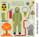 profession and occupation set.... | Shutterstock .eps vector #1093242215
