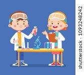 vector illustration kids doing... | Shutterstock .eps vector #1093248242