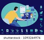 online doctor service vector...   Shutterstock .eps vector #1093264976