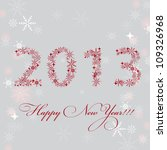 2013 new year postcard. vector... | Shutterstock .eps vector #109326968
