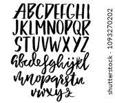 grunge distress font. modern... | Shutterstock .eps vector #1093270202