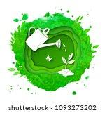 gardening vector background... | Shutterstock .eps vector #1093273202