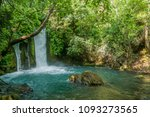 the banias  banyas  waterfall...   Shutterstock . vector #1093273565