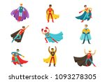 male superheroes in classic...   Shutterstock .eps vector #1093278305